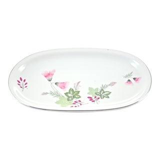 Pink Bavarian Porcelain Tray