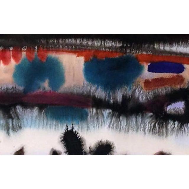 Clay Walker Original Watercolor Untitled Landscape - Image 3 of 3