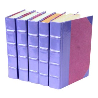 Patent Leather Lilac Books - Set of 5