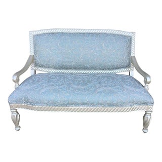 Distressed Painted Bernhardt Settee