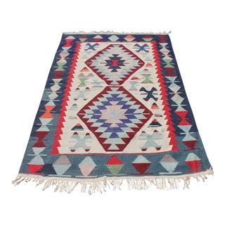 Hand Woven Anatolian Kilim Rug - 3′8″ × 5′6″