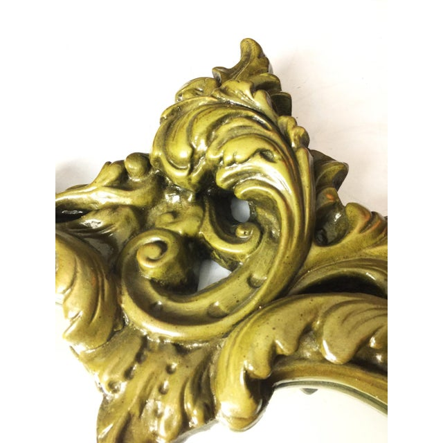 Vintage Hand Sculpted Plaster Italian Mirror - Image 4 of 5