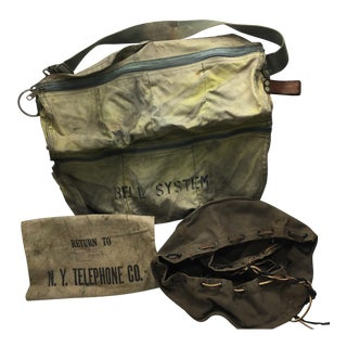 Canvas Telephone Tool Bags - Set of 3