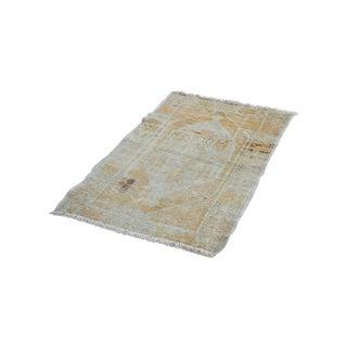 "Distressed Oushak Square Rug - 2'8"" x 3'10"""