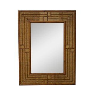 Quality Woven Rattan Bamboo Frame Wall Mirror
