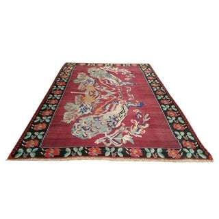 7′ × 10′ Vintage Turkish Kilim Hand Made Rug - Size Cat 7x10 8x10
