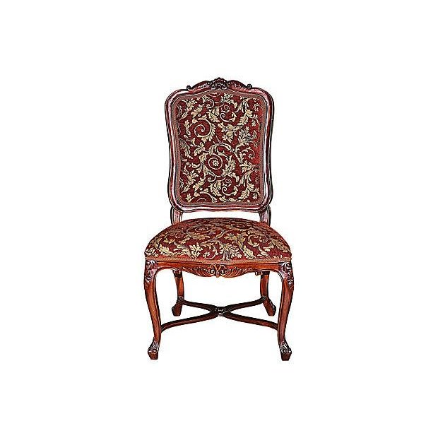 Louis XV-Style Mahogany Side Chairs - Set of 6 - Image 2 of 7