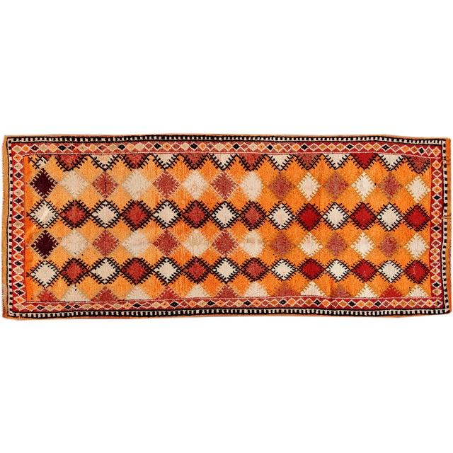 Image of Apadana - Vintage Orange Moroccan Rug - 5' X 11'