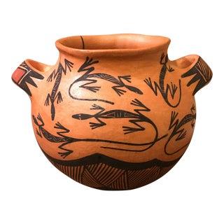 Vintage Acoma Pottery Vase Signed V. Garcia