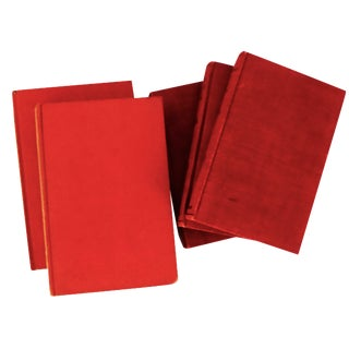 Art Nouveau Red Pocket Books - Set of 5