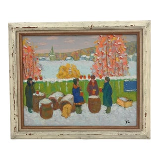Post Impressionism Russian Winter Scene