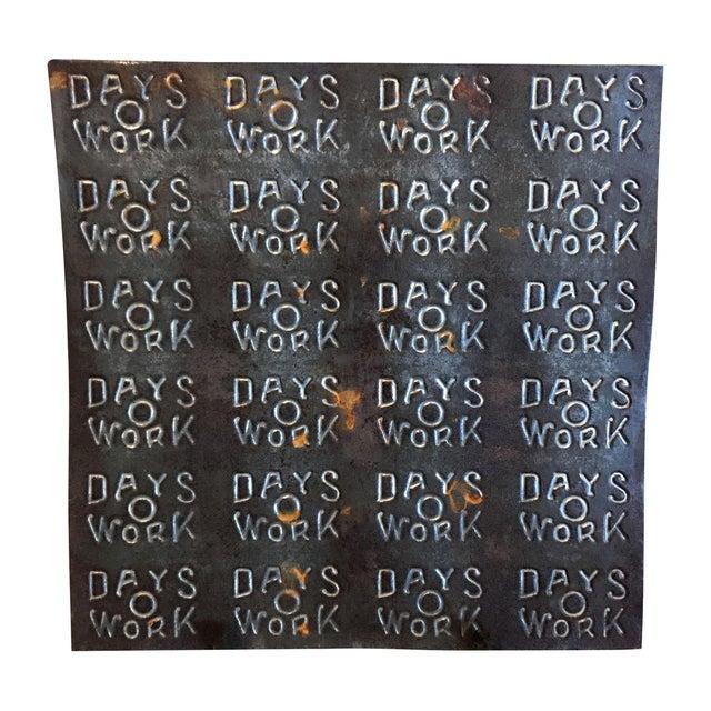 """Image of """"Days O Work"""" Tobacco Tin Sheet"""