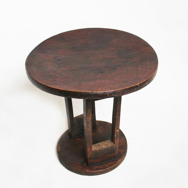 Ethiopian Wood Carved Table Chairish