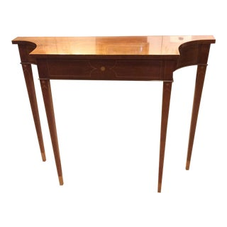 Stately Narrow Console Table by Baker