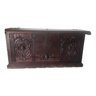 Antique Hand Carved Mexican Sideboard