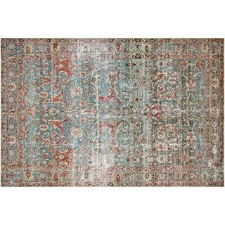 "Vintage Persian Tabriz Rug -- 7'3"" x 11'4"""