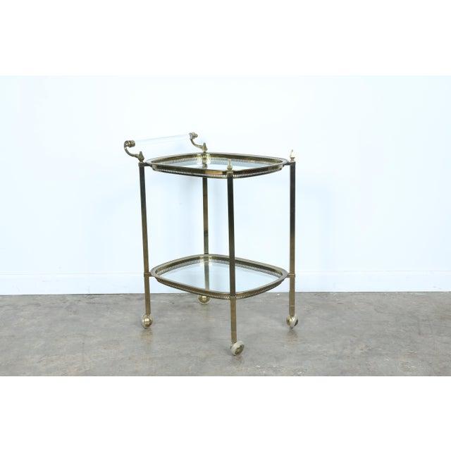 Image of Mid-Century Gold-Tone Bar Cart