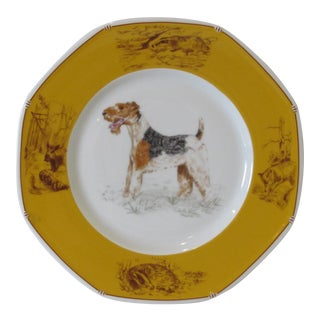 Hermes Decorative Fox Terrier Motif Plate