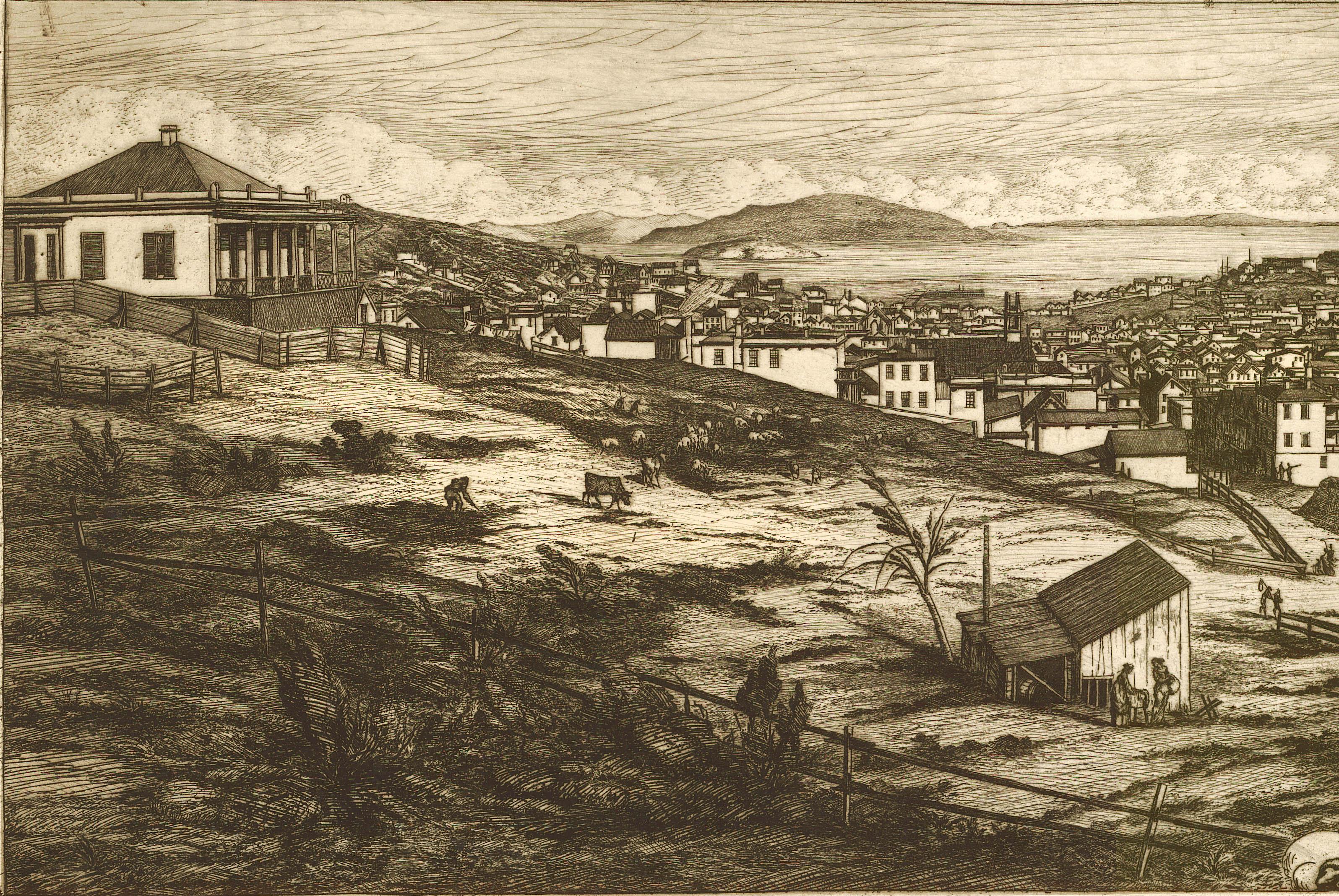 1856 Print Of Panoramic Sketch, San Francisco   Image 2 Of 4