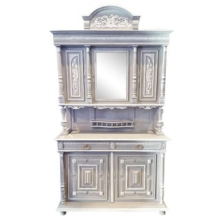 Antique French Painted Hutch