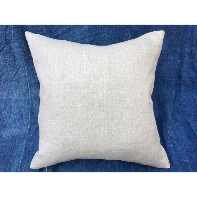 Tribal Patchwork Antique Indigo Textile Pillow - Image 9 of 9