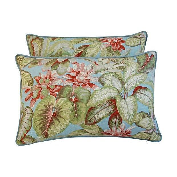Lush Botanical Linen & Velvet Pillows - Pair - Image 6 of 7