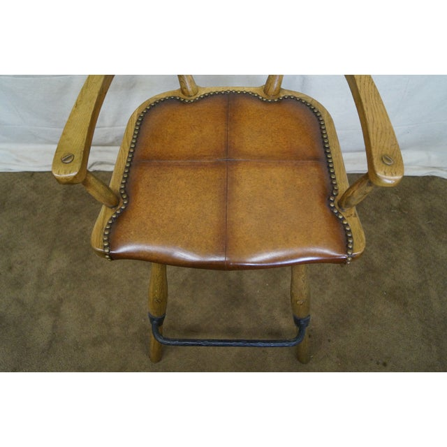 Jonathan Charles Architect's Arm Chair - Image 6 of 10