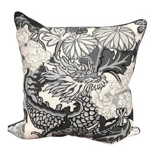 A Pair of Schumacher Chiang Mai Dragon Pillows