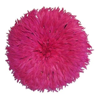 Authentic Cameroon Juju Hat - Hot Pink