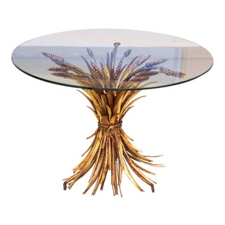 Coco Chanel Style Wheat Coffee Table in Gold