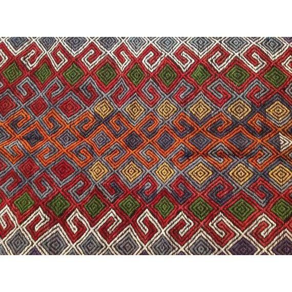 "Vintage Turkish Red Kilim Rug - 6' x 9'4"" - Image 6 of 6"