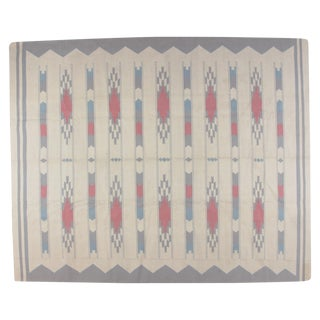 Dhurry Rug with Ivory Background - 8' X 10'