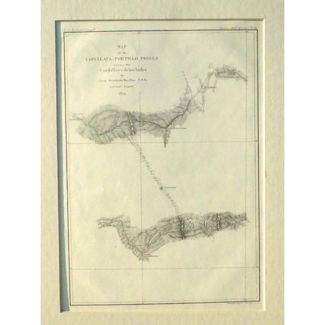 Santiago, Chili Uspullata & Portillo Passes, 1855 Map - Image 4 of 8
