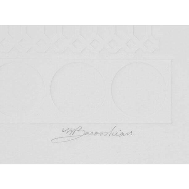 "M. Barooshian, ""Summer Olympics,"" Intaglio Etching - Image 2 of 2"