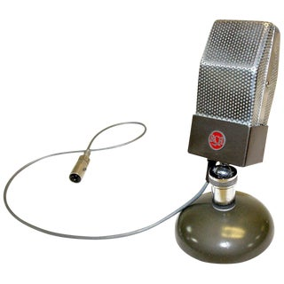 All Original Iconic Circa 1930 RCA Vintage Studio Microphone As Sculpture