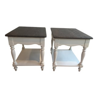 Mineral White Side Tables - A Pair
