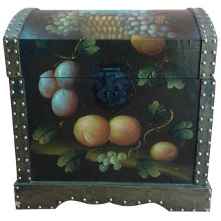 Hand-Painted Storage Chest