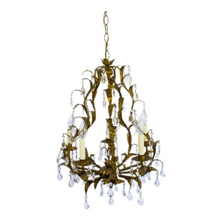 Italian Gold Gilt Chandelier