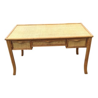 Vintage Island Bamboo Rattan Writing Desk
