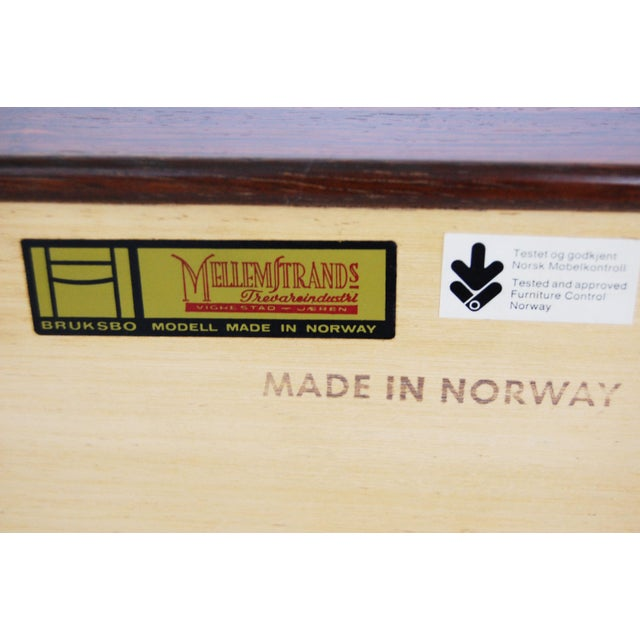 Torbjorn Afdal for Bruksbo Norwegian Krobo Rosewood Coffee Table or Bench - Image 4 of 7