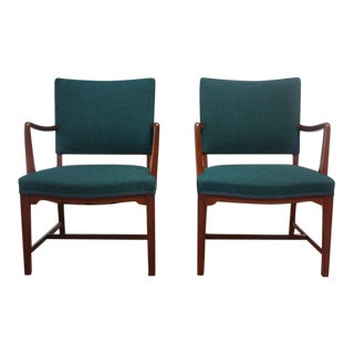 Pair of Danish Modern Teak Armchairs after Kaare Klint
