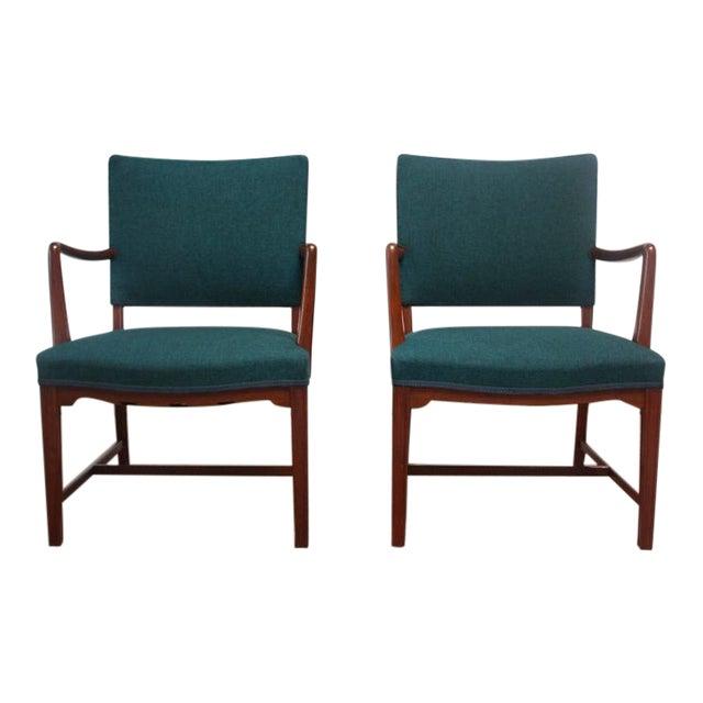 Image of Pair of Danish Modern Teak Armchairs after Kaare Klint