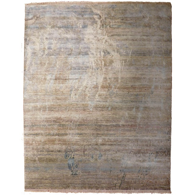 """Abstract Hand-Knotted Rug - 8′ × 9′11"""" - Image 1 of 10"""