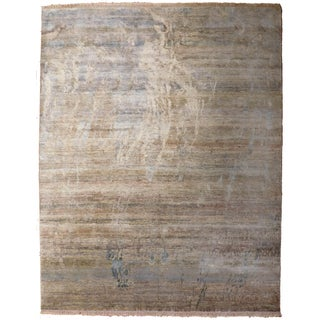 Abstract Hand-Knotted Rug - 8′ × 9′11""