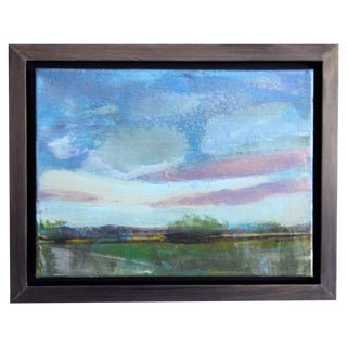 Twilight Pastel Sky Abstract Landscape Painting