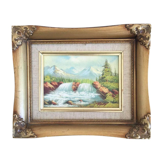 Vintage Waterfall Landscape - Image 1 of 3