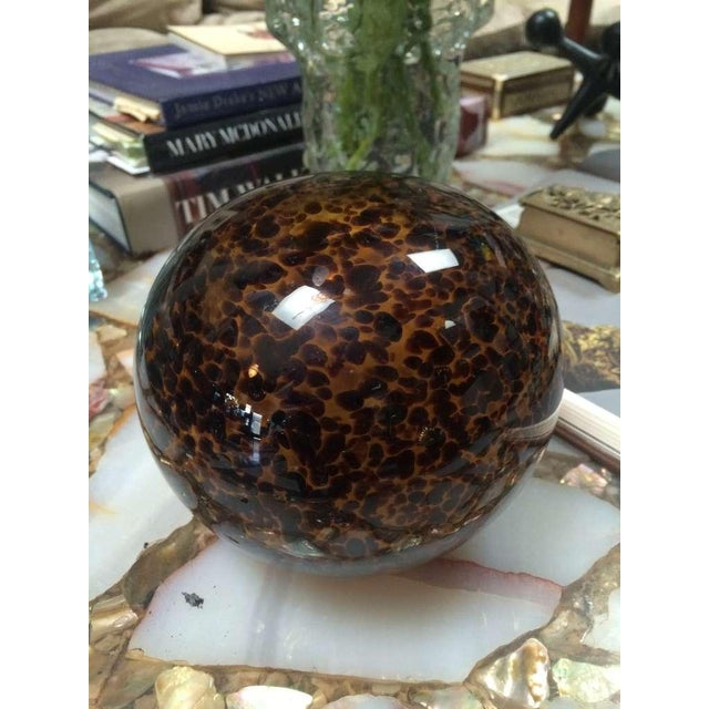 """Leopard"" Large Glass Paper Weight - Image 2 of 2"