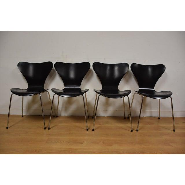 Arne Jacobsen Fritz Hansen Chairs - Set of 4 - Image 2 of 11