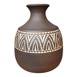 Southwestern Hand Etched Ceramic Vase