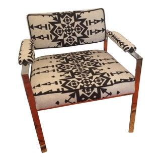 Mid-Century Pendleton Upholstered Chrome Chair